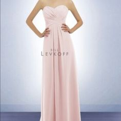 Petal pink gown Bill Levkoff gown 778 in Petal Pink. Worn once as a bridesmaid dress; in perfect condition. Bill Levkoff Dresses Strapless