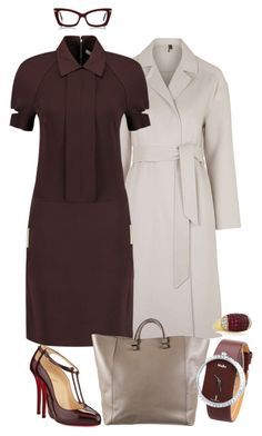 """""""Style#688"""" by mussedechocolate ❤ liked on Polyvore featuring moda, Topshop, Victoria Beckham y Christian Louboutin"""