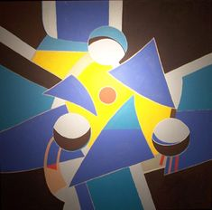 Cosmic Velocity, 2004. By Françoise Gilot (France, born 1921). Oil on canvas.