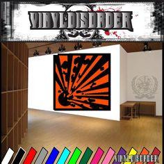 Hazardous Safety Sign Wall Decal - Vinyl Sticker - Car Sticker - Die Cut Sticker - CD012