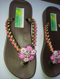Sandalias decoradas