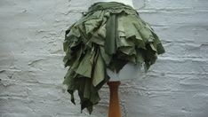 Upcycled Bustle Woman's Clothing Shades of Green Olive