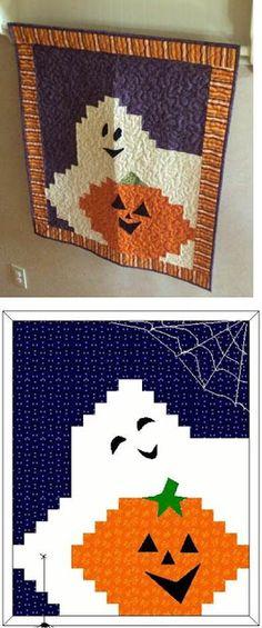 Quilt Inspiration: Free Pattern Day: Halloween!