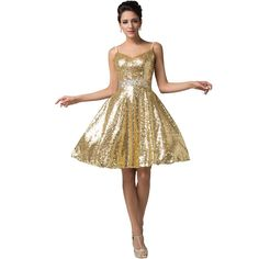 Gold Sequin Dress Cheap
