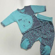 Вязанные детские костюмчики для новорожденных спицами 15