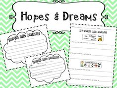 Hopes And Dreams 1st Grade Worksheets Responsive Clroom Back To School Activities