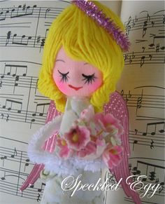 Pink Christmas Angel by speckled-egg, via Flickr