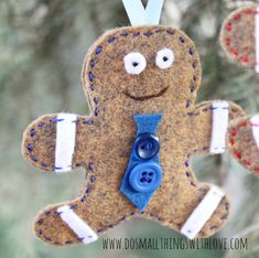 gingerbread christmas ornament 3