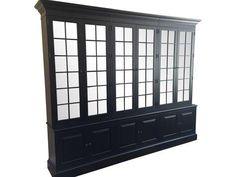 Black Ethan Allen Villa Triple Bookcase on Chairish.com.   $5400
