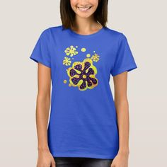 Shop Flower T-Shirt created by alanhogan. T Shirt Flowers, Wardrobe Staples, Fitness Models, Female, Tees, Casual, Girls, Cotton, Mens Tops