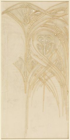 Embroidery sample designed by Hector Guimard (1867 – 1942), 1909-1912, Gift of Madame Hector Guimard, 1949-91-1.