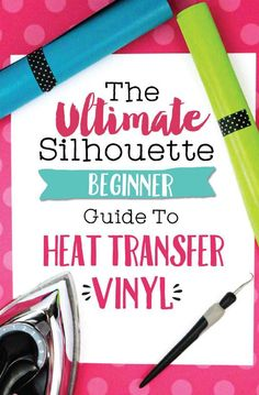 The Ultimate Silhouette Beginner Guide to Heat Transfer Vinyl by Melissa Viscount - Swing Design Silhouette School Blog, Silhouette Cameo Vinyl, Silhouette Cameo Tutorials, Silhouette Machine, Silhouette Cutter, Silhouette Curio, Silhouette Cameo Freebies, Silhouette Portrait Projects, Silhouette Vinyl Projects