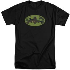 BATMAN/CAMO LOGO-S/S ADULT TALL-BLACK
