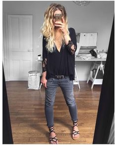 Simple Casual Summer Outfit Ideas To Copy Now - Street Styles Mode Outfits, Fashion Outfits, Fashion Trends, Fashion Ideas, Simple Outfits, Casual Outfits, Casual Chique, Look Boho, Looks Street Style