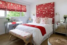 love the height on this headboard!