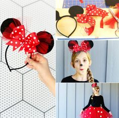 Haarreif Fasching basteln Minnie Maus Ohren selber machen The Effective Pictures We Offer You About Minnie Mouse Costume Toddler, Mini Mouse Costume, Minnie Costume, Family Halloween Costumes, Diy Costumes, Halloween Kids, Minnie Mouse Bow, Mickey Minnie Mouse, Mouse Ears