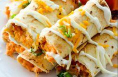 Baked Bufffalo Chicken Taquitos   Weight Watchers Recipes