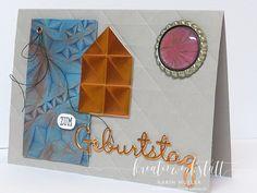Männerkarte mit Geometric Prägefolder und Videoanleitung | Kreativwerkstatt Creative, Up, Paper, Man Card, Creative Ideas, Invitations, Gifts, Crafting