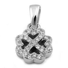 Sterling Silver Clover Leaf Cz Pendant Dreamland Jewelrysilver