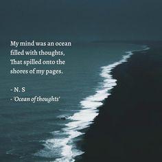 Ocean //quote//poetry//ocean aesthetic// blue //dark Ocean Quotes, Poetry, Mindfulness, Thoughts, Dark, Blue, Ocean Sayings, Sea Quotes, Poetry Books