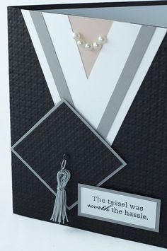 Customizable cap & gown female graduation card by Cardsters