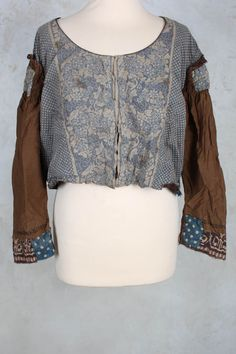 Cotton Sedie Crop Jacket in Marrakesh and Kava - Magnolia Pearl