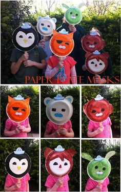 Love this idea. Would be fun and cheap to cut out eyes, and premake for the kids and let them wear as masks!