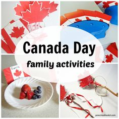 Celebrate Canada Day or any national holiday with these fun avtivities for the whole family. Games, crafts and more to make the holiday special! Family Games, Family Activities, National Holidays, Canada Day, Preschool, Blog, Fun, How To Make, Crafts