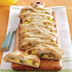 Jalapeño, Sausage, Jack, and Egg Breakfast Braid: This prize-winning stuffed breakfast bread recipe starts with a can of refrigerated pizza dough thats filled with a mixture of sausage, eggs, cheese and jalapeño peppers.  Serve with fresh fruit for breakfast or brunch.