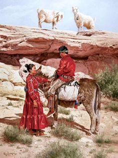 Navajo Romantics RAY SWANSON | Native american art | Pinterest