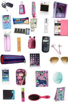 Online shopping for girls' back-to-school essentials from a great sele Middle School Supplies, Middle School Hacks, High School Hacks, School Supplies Highschool, Life Hacks For School, School Emergency Kit, School Survival Kits, School Kit, School Bags