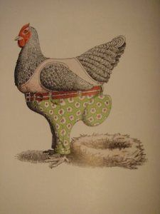 Great family chicken blog!  This photo from Animals Should Definitely Not Wear Clothing by Judi and Ron Barrett.
