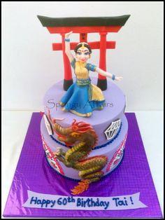 Melange of Indo-Japanese Arts - Cake by Meenakshi Jamadagni