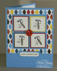 89 best fathers day cards images on pinterest masculine the itty bitty hammer is from the every little bit stamp set and has been stamped onto a colorful card for dad easy way to use a small stamp on a large m4hsunfo