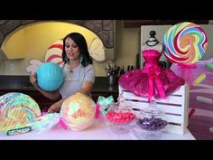 ▶ How to Make Party Decorations With a Candy Theme : Kids' Parties - YouTube