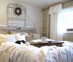 i LOVE color, but this white bedroom makes me want to curl up in bed...and stay there!
