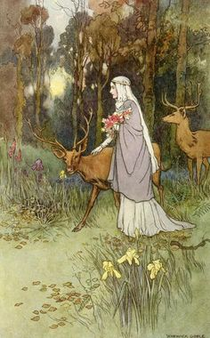 Warwick Goble, illustration for The Book of Fairy Poetry, 1920.