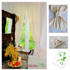 Oryginal, handmade ecru curtains. Perfect for rustic, boho, vintage, shabby chic and cottage interiors. Made of natural cotton blend fabric with linen and elana. Each of our products is designed and hand made by us.