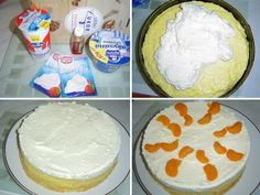 9_krem-ze-zakysane-smetany Vanilla Cake, Cheese, Desserts, Food, Retro, Tailgate Desserts, Deserts, Eten, Postres