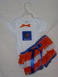 NCAA University of FLorida Boutique Onsie Bloomer Outfit  Gators outfit   ANY Team. $34.00, via Etsy.