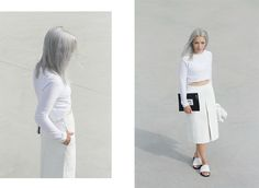 W E A R I N G / Pebbled Leather Skirt - LOVE AESTHETICS