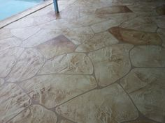 Both pool decks were done in a Bombay base color with a tan antique agent.