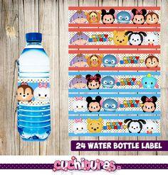 24 Tsum Tsum Water Bottle Label instant download Printable
