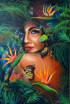 "Saatchi Art Artist JV Totanes; Painting, ""Revealing"" #art Beautiful Artwork, Cool Artwork, Hawaiian Art, Hawaiian Quotes, Pi Art, Filipino Art, Polynesian Art, Cosmic Art, Tropical Art"