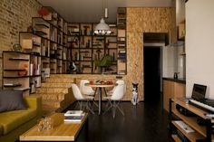 Kreative Wohnung mit fließendem Design - eine frische Einrichtungsidee aus Kiew
