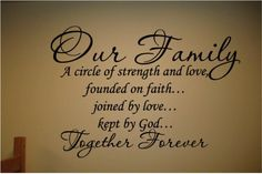 Our Family a Circle of Strength and Love Wall Vinyl Decal Only $3.03 + FREE Shipping!