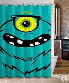 Monster EyeGlasses EyeBall Style Shower Curtain