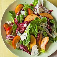 Nectarine & Blue Cheese Salad | http://www.rachaelraymag.com/recipe/nectarine-blue-cheese-salad/