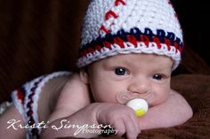 Baseball Hat and Button Diaper Cover Crochet PATTERN Multiple Sizes. $5.50, via Etsy.