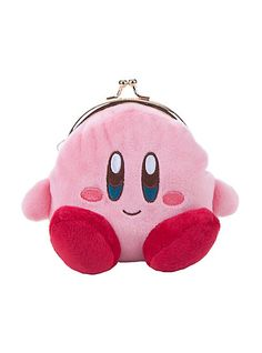 Kirby character plush kisslock coin purse from Nintendo's Kirby video game series. Kirby Bags, Kirby Nintendo, Kirby Character, Novelty Bags, Drawing Anime Clothes, Anime Outfits, Cute Pink, Guys And Girls, Girly Things